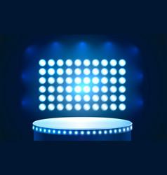 Club podium platform award stage illumination vector