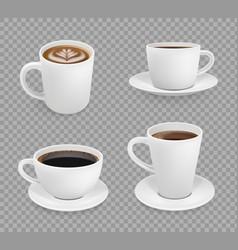 coffee cup breakfast hot drinks espresso vector image