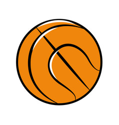 Color ball to play basketball icon vector