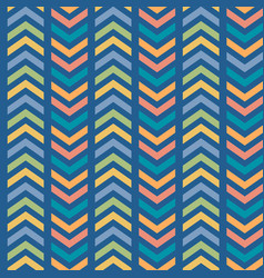 colorful striped chevron seamless pattern vector image