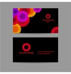Creative business horizontal card vector