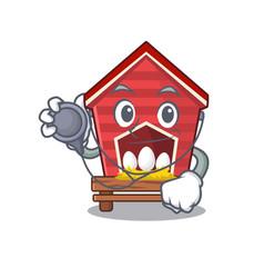 Doctor chicken coop isolated in mascot vector