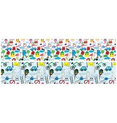 Doodles web banner vector