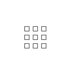 dots line icon vector image