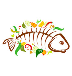fish food vector image
