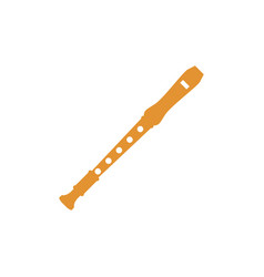 Flute recorder icon design template isolated vector