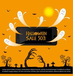 halloween sale background vector image