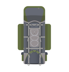 hiking backpack in flat design vector image