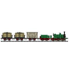 Historical freight steam train vector