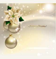 Holiday christmas background with gold evening vector