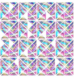 holographic seamless pattern vector image
