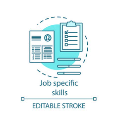 Job specific turquoise skills concept icon vector
