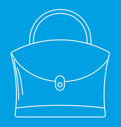 Little woman bag icon outline style vector