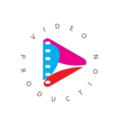 Logo abstract play button vector