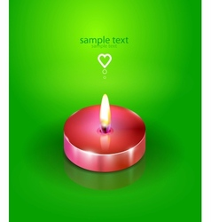 Love candle background vector