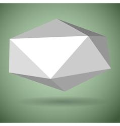 Low polygonal speech bubble vector image