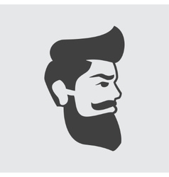 Man with beard icon vector image