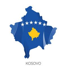map kosovo vector image