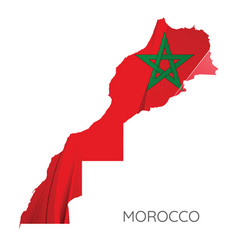 Map morocco with flag vector