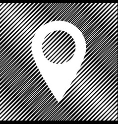Mark pointer sign icon hole in moire vector
