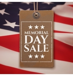 Memorial Day sale background vector