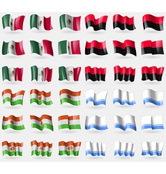 Mexico UPA Niger Altai Republic Set of 36 flags of vector