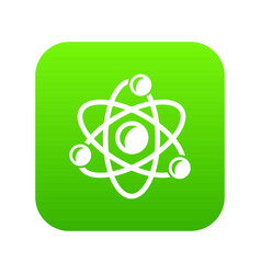 molecule genetics icon green vector image