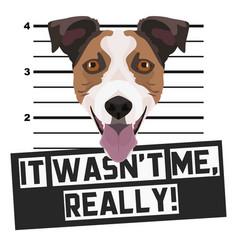 Mugshot mug shot jack russell terrier vector