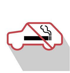 No smoking sign in the car vector