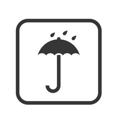 no wet umbrella packaging and logistic vector image