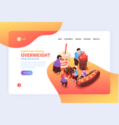 Overweight risks landing page vector