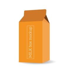 Package milk box template mock up vector image