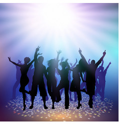 Party crowd on a spotlight background vector