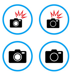photo camera rounded icons vector image