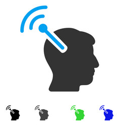 Radio neural interface flat icon vector