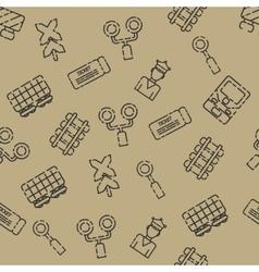 Railroads set pattern vector