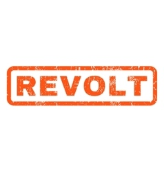 Revolt Rubber Stamp vector image