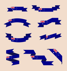 ribbons or banners in colors of australian flag vector image