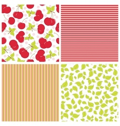 Scrapbook elements patterns vector