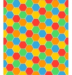 Seamless pattern honeycomb texture hexagon shapes vector image