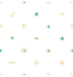 seamless pattern with simple shapes created in vector image