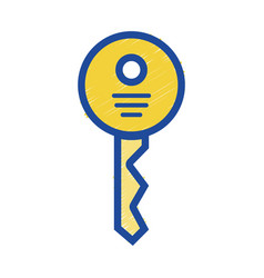 Security key icon to web protection vector