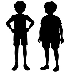 Sillhoutes of two men vector image