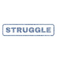 Struggle textile stamp vector