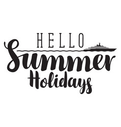 Summer banner with inscription sea and steamship vector