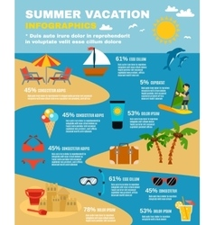 Summer Infographic Set vector