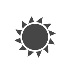 Sun icon Light sunbeams Gray design sign vector image