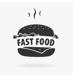 Symbol Fast Food Hamburger vector image