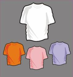 T shirt collection vector