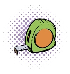 Tape measure comics icon vector image